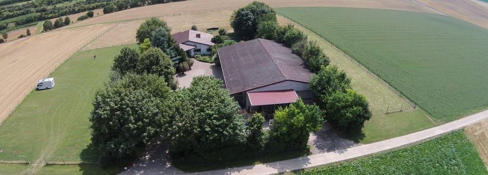 Weingut Borntaler Hof - idylische Lage in Rheinhessen - Luftbildaufnahme